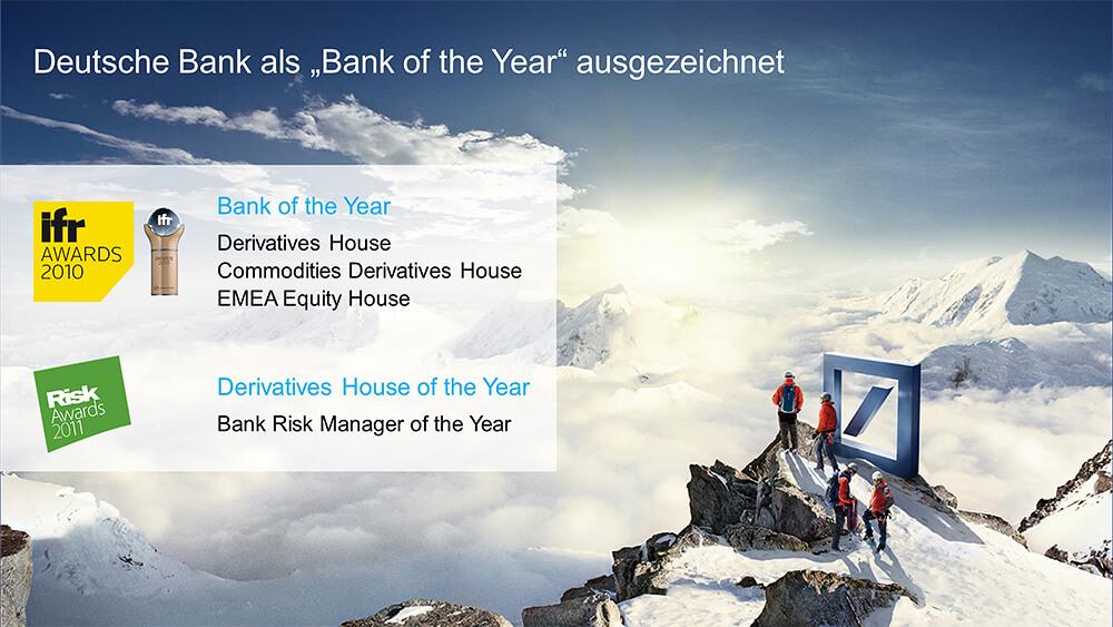 Präsentation für die Hauptversammlung der Deutschen Bank | INSCALE