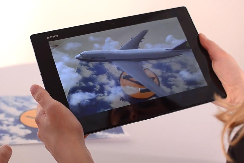Augmented Reality Lufthansa